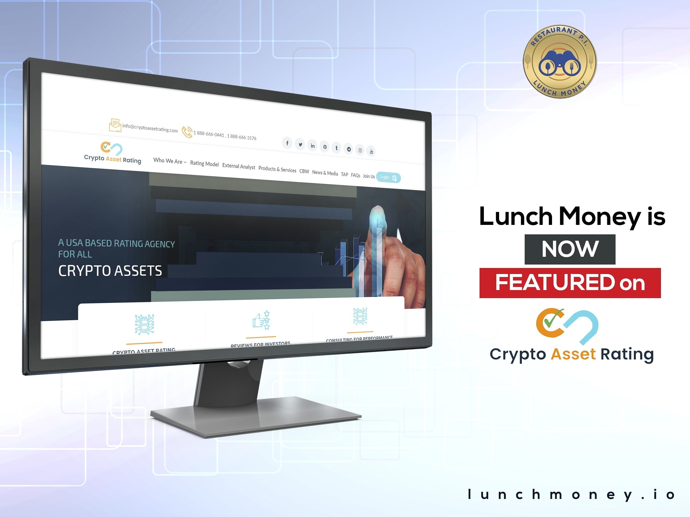 Lunch Money has been Rated and Reviewed by Crypto Asset Rating
