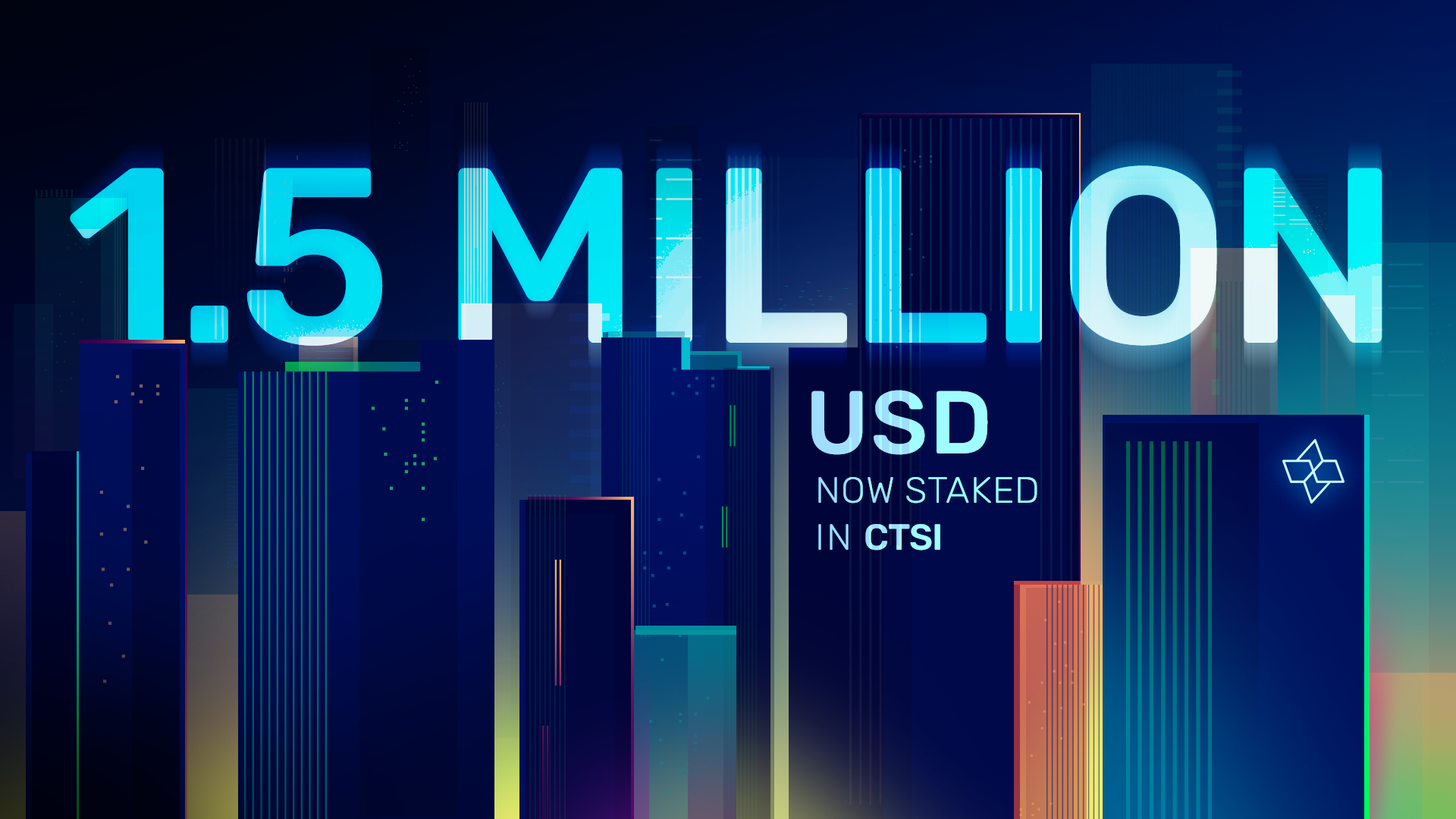 Over $1.5M US in CTSI Now Staked!