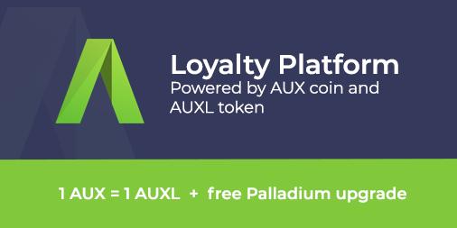 New AUXL token powering Auxilium Loyalty Platform (AUX up 1393% past 8 months)
