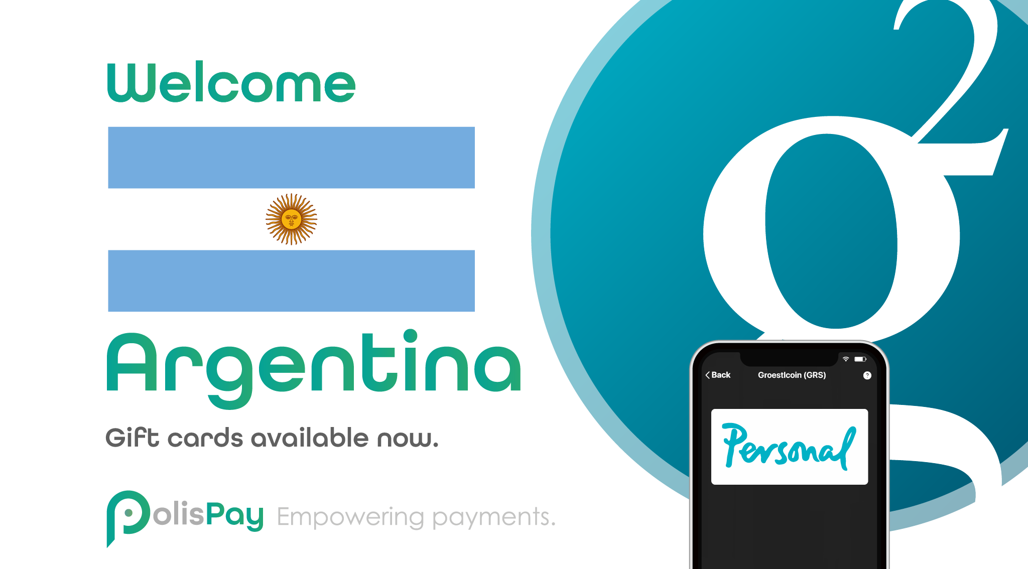 Groestlcoin ($GRS) Gift cards available now in Argentina!