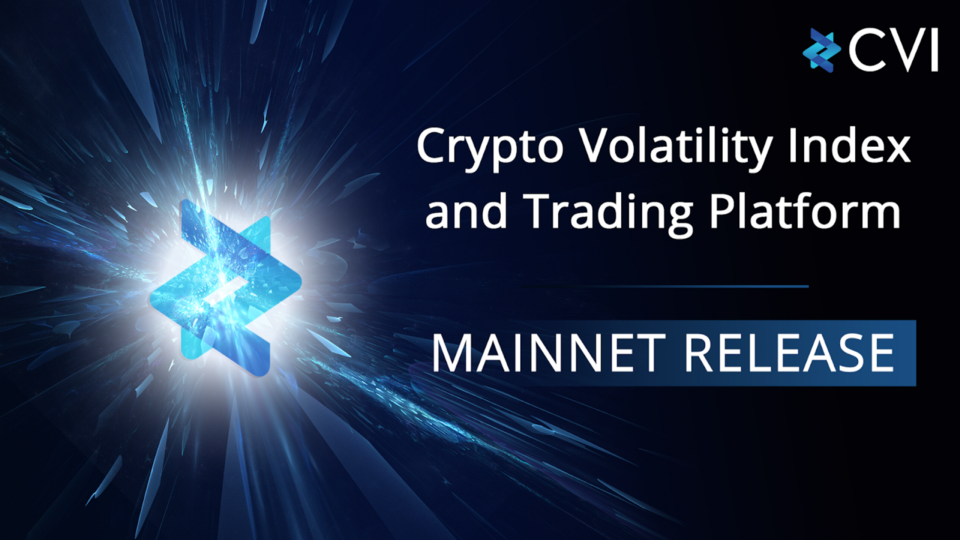 We are proud to announce the release of the Crypto Volatility Index (CVI) on MainNet.