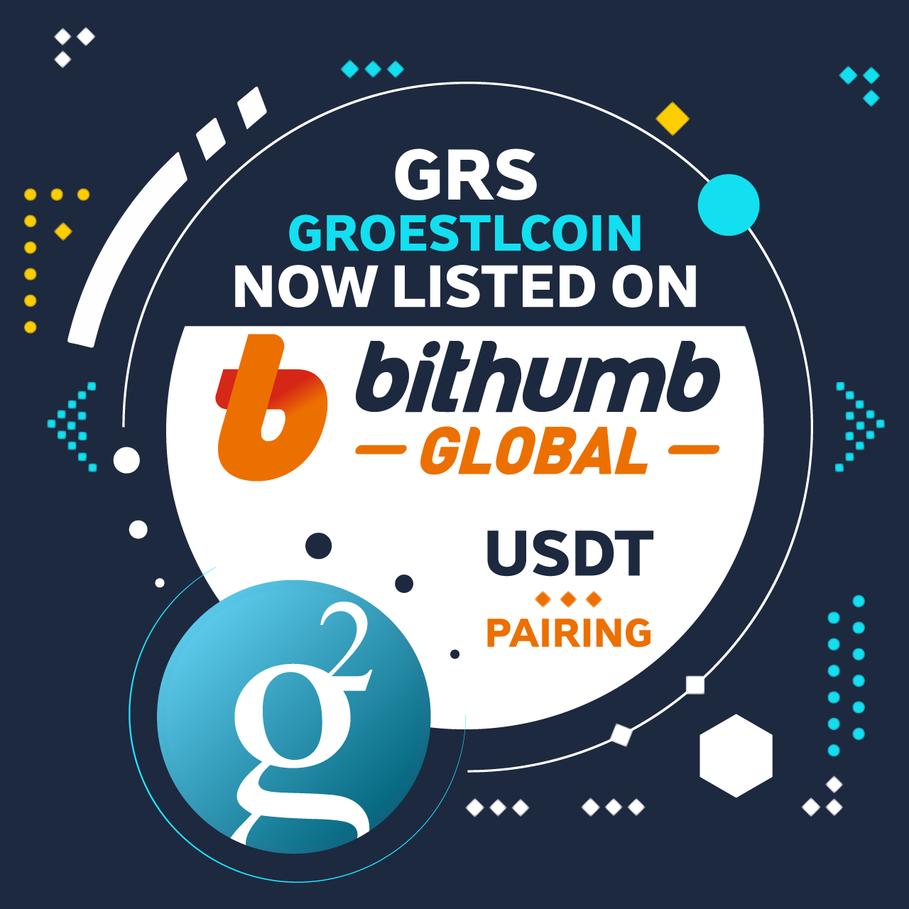 Groestlcoin $GRS is now listed on Bithumb Global !