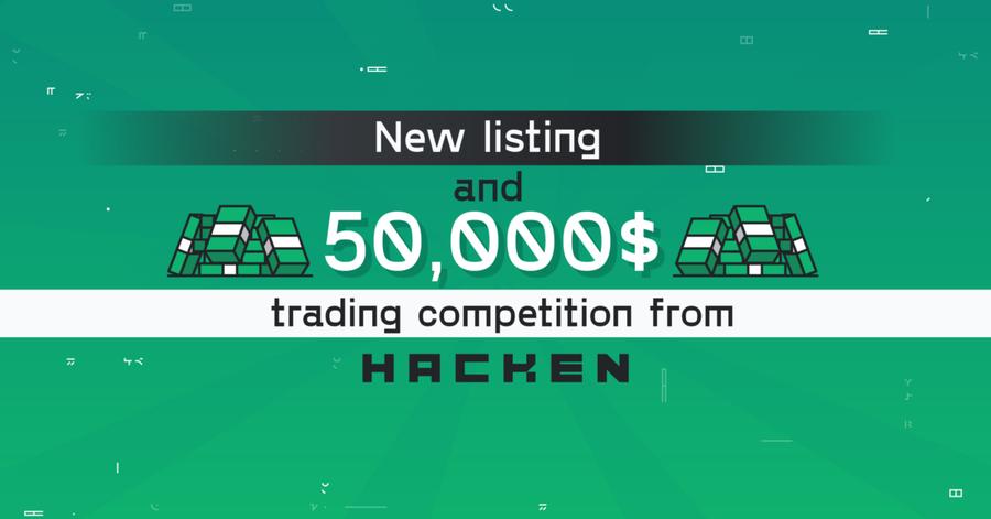 Hacken Token ($HAI) listing at Bitmart & 50k USD trading competition