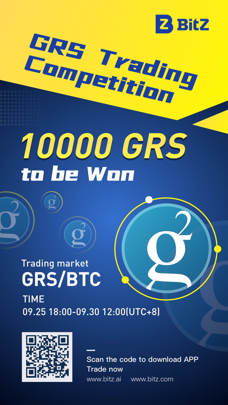 BitZ is holding a new trading competition with a total prize of 10,000 $GRS!